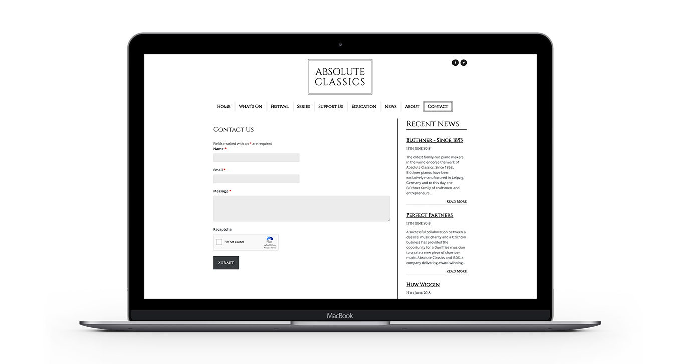 absolute classics website design by bdsdigital
