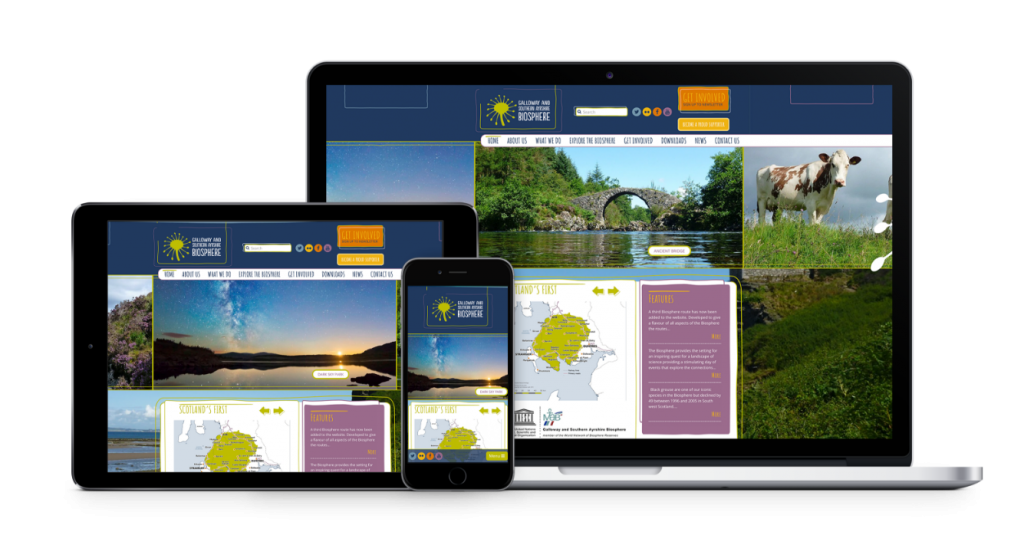 biosphere website design by bdsdigital
