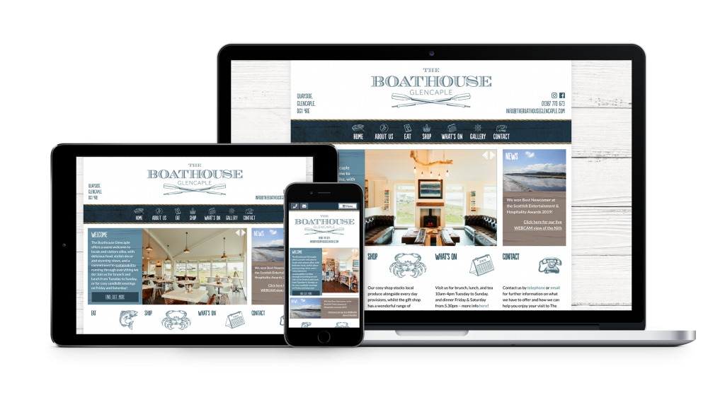 boathouse website design by bdsdigital