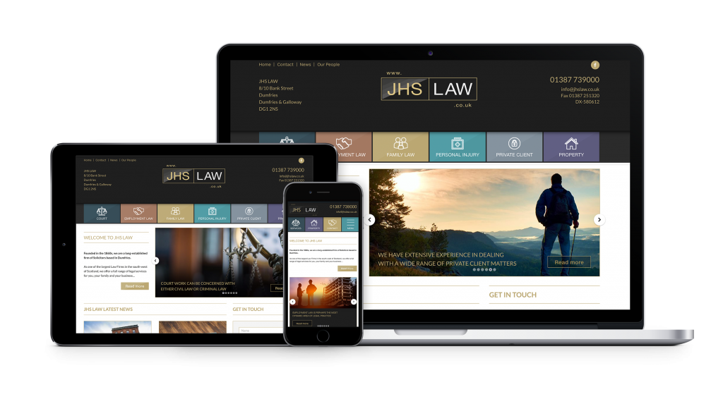 jhs law website design by bdsdigital